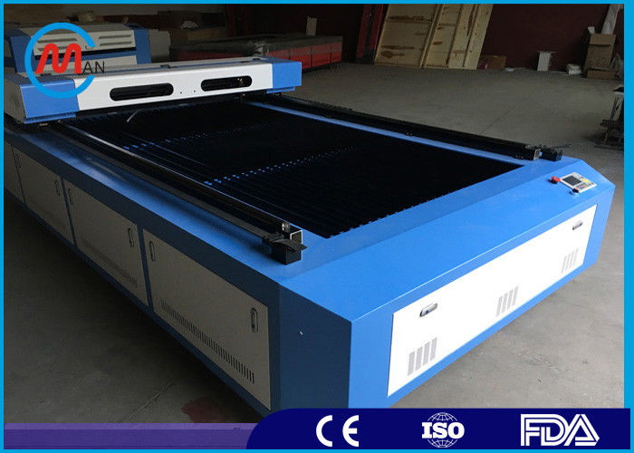Blue Intelligent Wood Laser Cutting Machine , Desktop Laser Engraving Cutting Machine