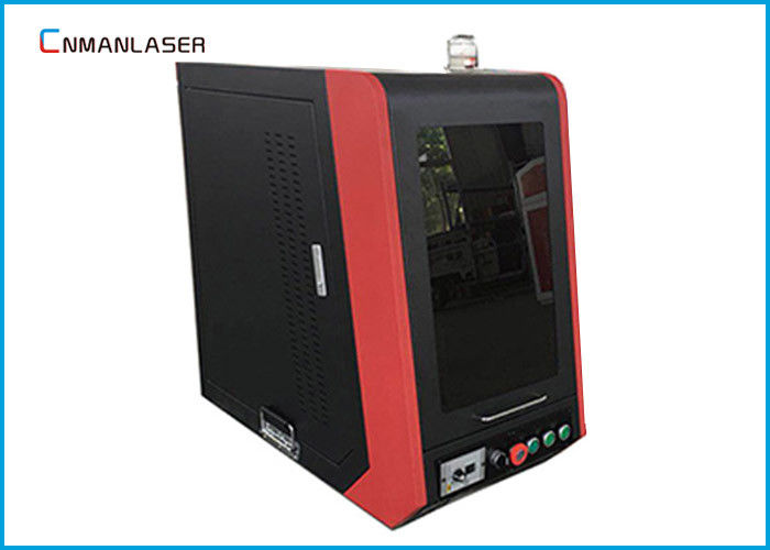 Safety Enclosed 10w 20w Portable Fiber Laser Marking Machine For Auto Parts Plastic
