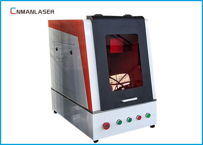 Enclosed Mini Fiber Laser Marking Machine 30w 50w For Phone Keys Lockset Cooker